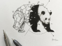 量角器签字笔画涂鸦