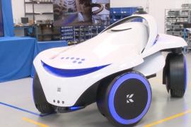 全新四轮驱动的安保机器人K7亮相
