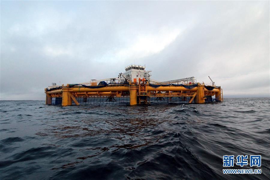中国造智能海上渔场
