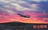 北京今晨朝霞满天