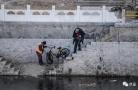 这条河年捞上千共享单车