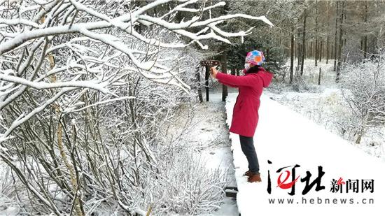 立夏日张家口崇礼、承德坝上迎降雪(组图)