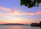 西湖惊现夕阳云天!