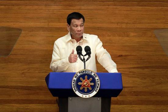 资料图:菲律宾总统杜特尔特 新华社发