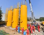 河南濮阳:中原油田建设首座天然气脱硫装置