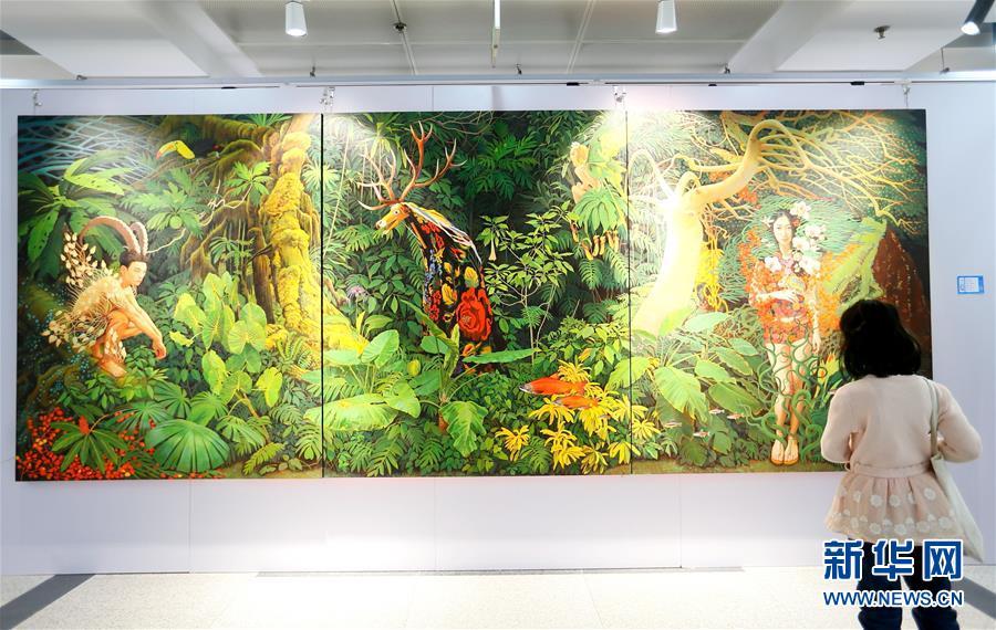 2018全国大学生艺术年度大展在青岛德馨艺术中心开幕