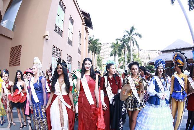 世界小姐总决赛三亚启动 120余名佳丽亮相