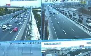 2019春运·返程 雨雪影响 部分高速公路一度封闭