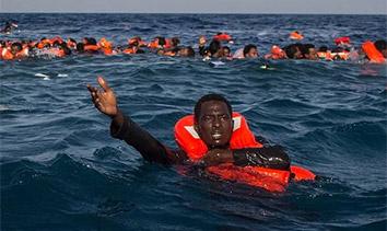 地中海難民船失事