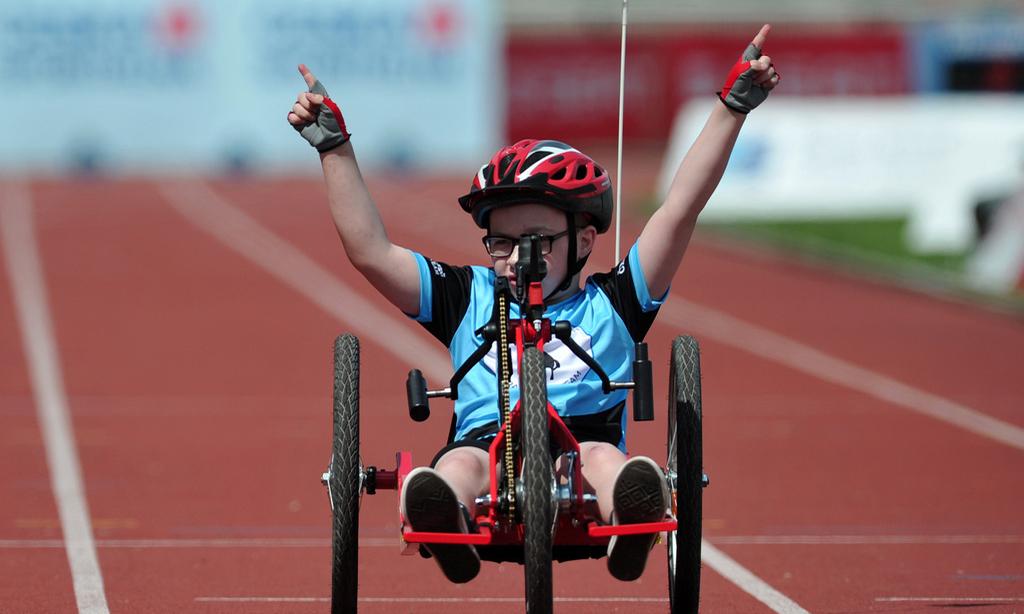 残疾儿童田径比赛
