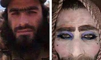 恐怖分子男扮女装逃离