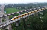 【组图】高速检测列车首次在连盐铁路开跑