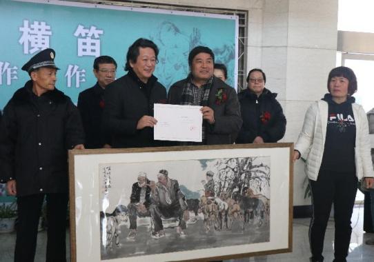 """""""墨海横笛""""张江舟工作室作品展在郑举行"""