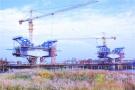 郑许市域铁路跨双洎河大桥施工忙